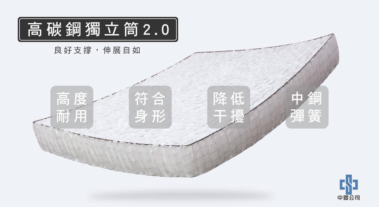 材質-高碳鋼獨立筒2.0