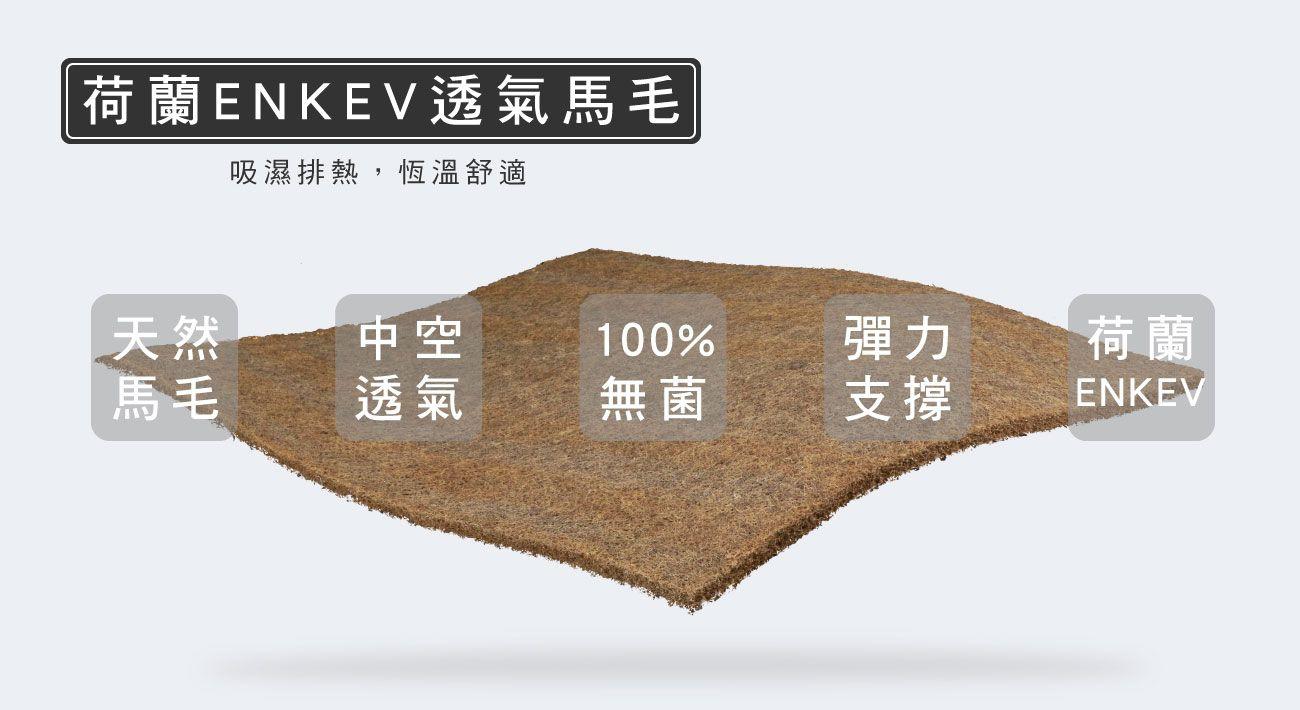 材質-荷蘭ENKEV透氣馬毛