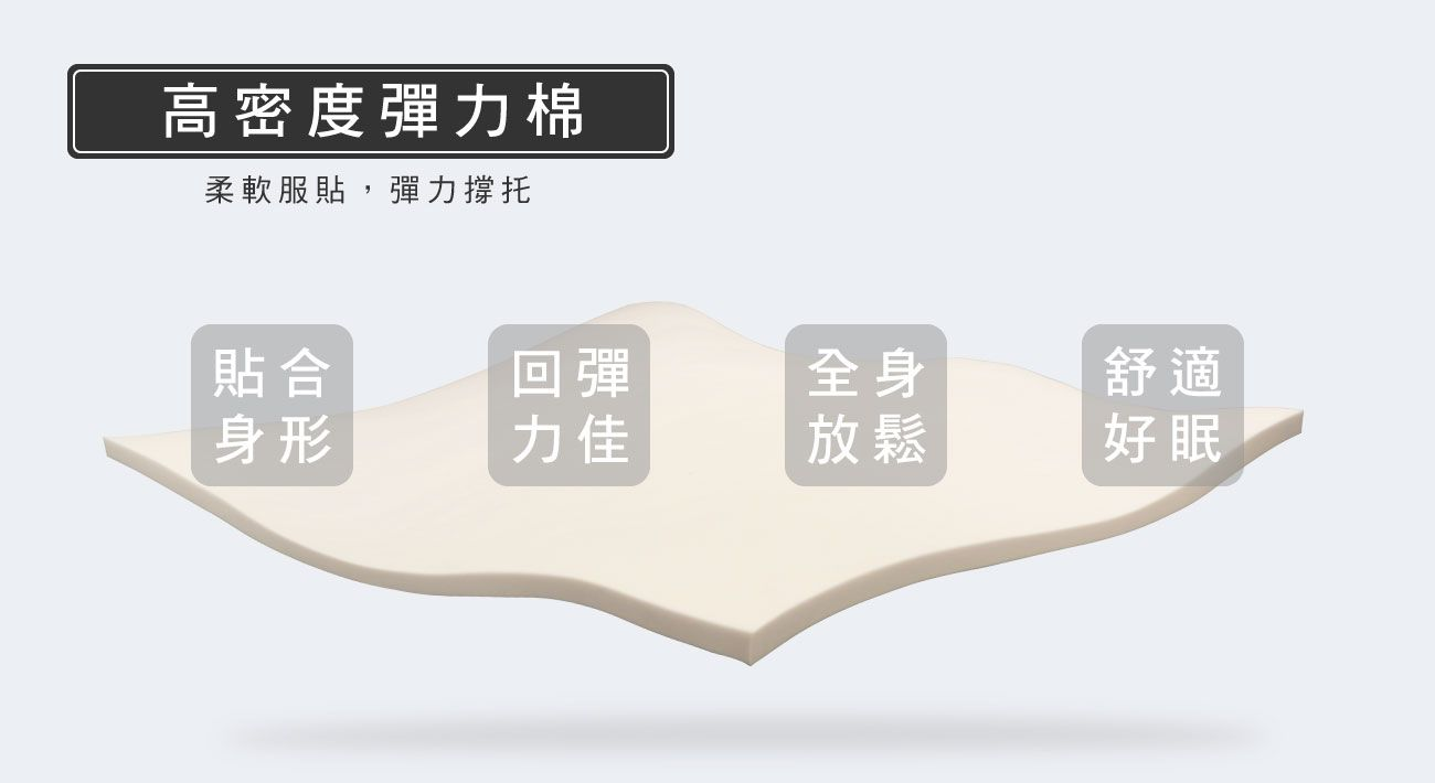 材質-高密度彈力棉